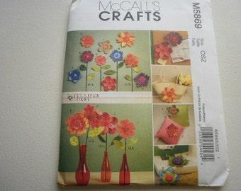 Pattern Dimensional Fabric Flower Fashions McCalls 5869