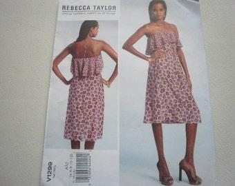 Pattern Ladies Strapless Dress by Rebecca Taylor Sz 4-12 Vogue 1299