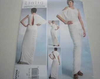 Pattern Ladies Chic Evening Dress by Lialia Sz 6-14 Vogue 1305