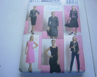 Pattern Ladies Jacket Dress Top and Skirt Sizes 16 to 24 Butterick 5147
