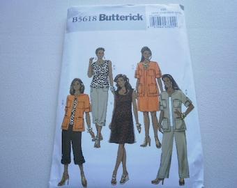 Pattern Women Dress Jacket Pants Top Sz 22W to 28W Butterick 5618