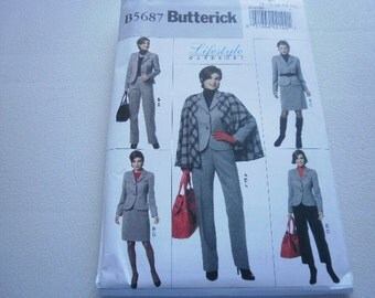 Pattern Ladies Cape Jacket Skirt and Pants Sizes 16 to 22 Butterick 5687