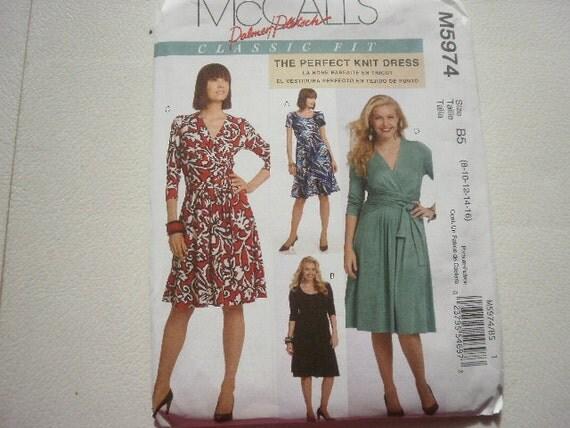 Pattern Ladies Dresses 3 Styles Sz 8-16 Uncut McCalls 5974
