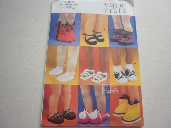 Pattern Doll Shoes 9 Styles 18 inch Dolls Vogue 7329