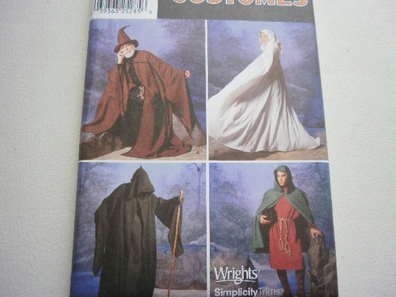 Pattern Ladies or Men Costumes Historical Outfits Xs to XL Simplicity 9887