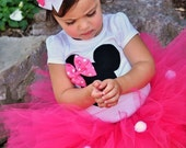 3 Piece Minnie Mouse Outfit - Hot Pink - Personalized