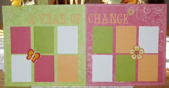 Baby Girl Scrapbook Album, Complete Premade Scrapbook Album for Baby Girl's First Year, Baby's 1st Year Scrapbook Album, Baby Shower Gift
