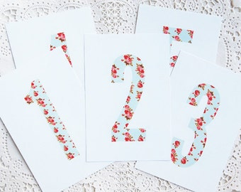 SALE! Floral Table Numbers 1-10