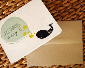 SALE! Just Wanted To Say Hi whale card