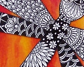 ACEO Original - Fire Hot Dragonfly