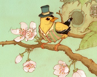 Mr. Goldfinch - signed print