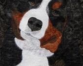 Bernese Mountain Dog Portrait Quilt