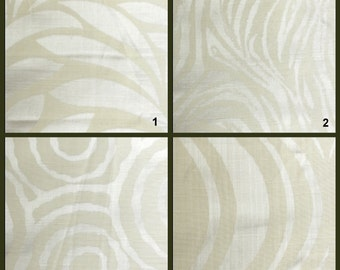 Custom Drapes - Modern / Animal Print in Ivory 44X84in Curtain Panel