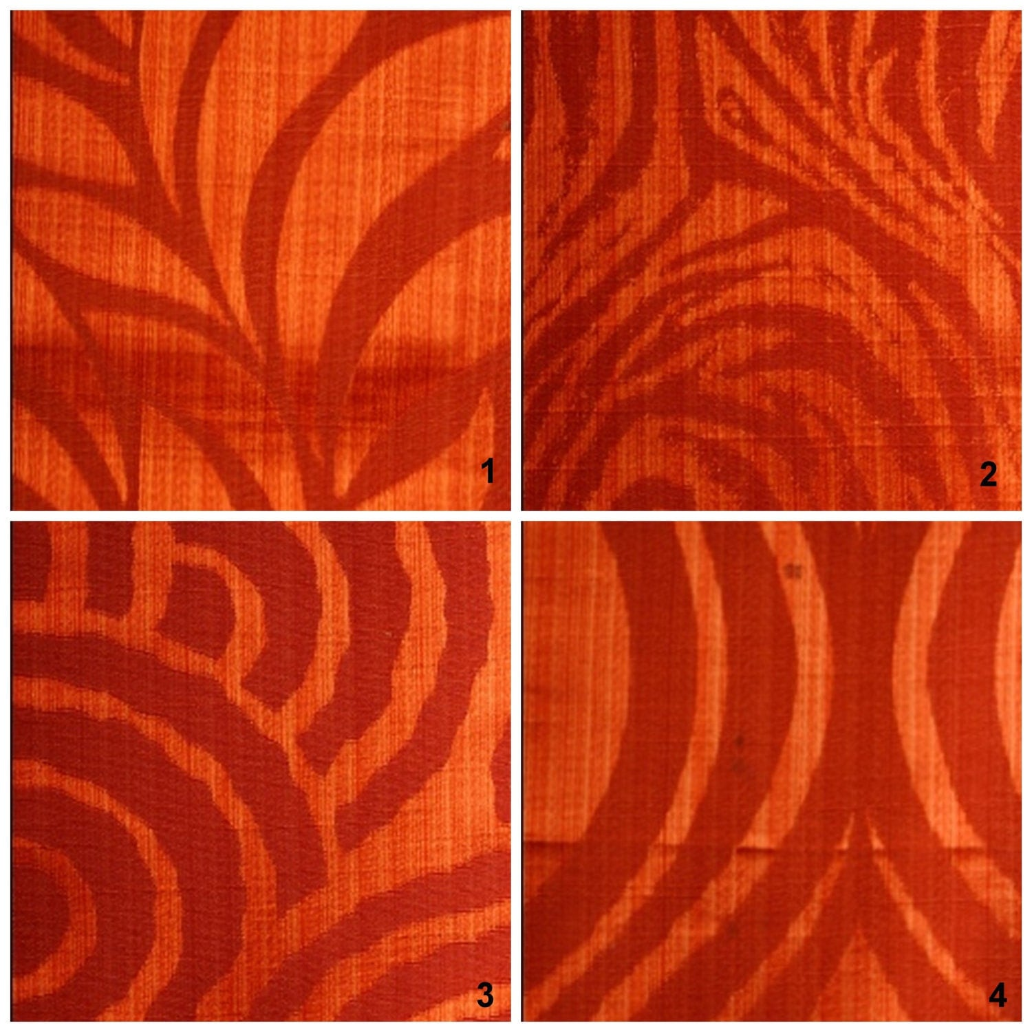 custom drapes modern animal print in red orange 44x84in