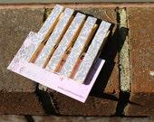Gray damask clothespins set of 5