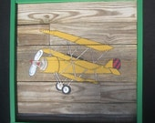 Plane Painting on Wooden Panel