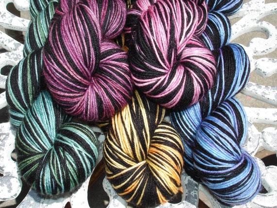 Custom Request Self Striping Yarn on Charles Merino Nylon Base
