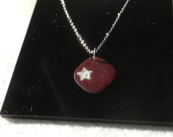 Raspberry Star Necklace