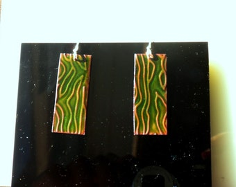 Deep Green River Earrings