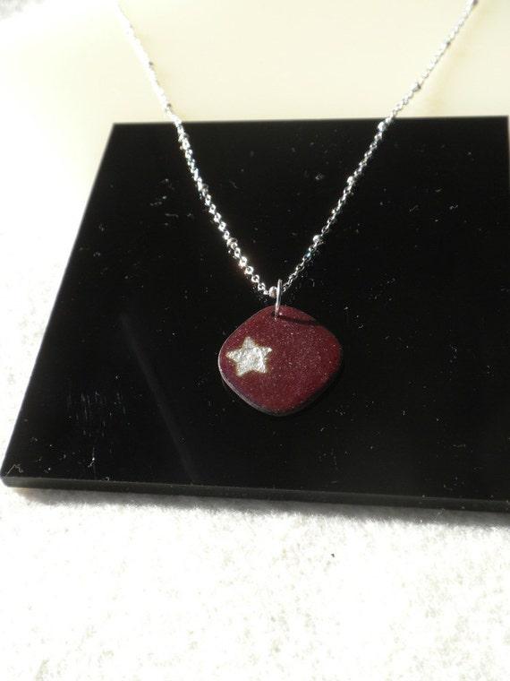 Raspberry Star Necklace