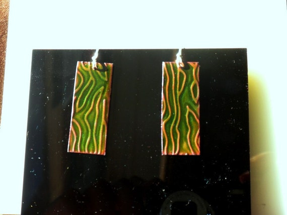 Deep Green River Earrings