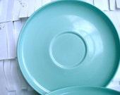 Mid Century Blue Melmac Dessert Plates