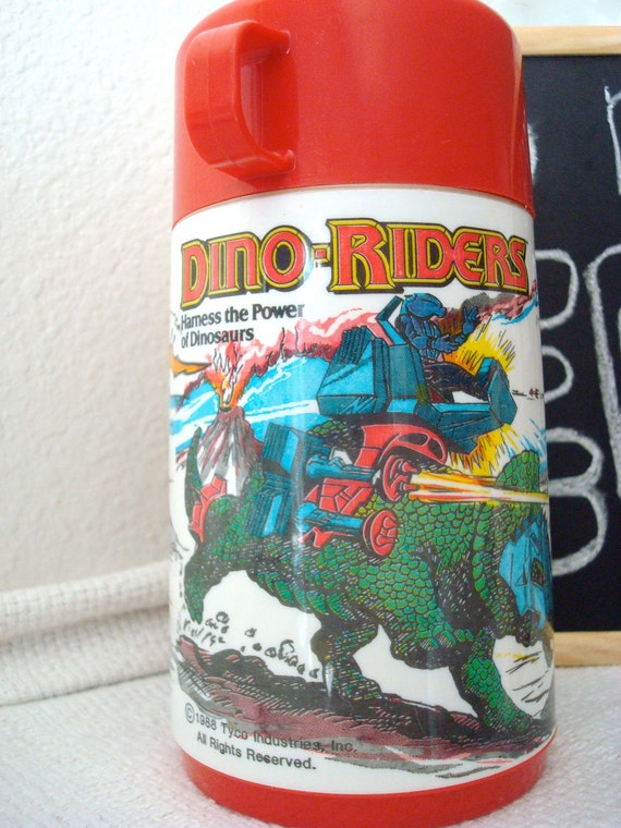 Old School Dino Riders Thermos 1988