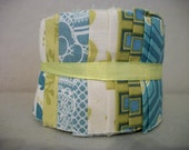 Jelly Roll Fabric Slices Blue Green