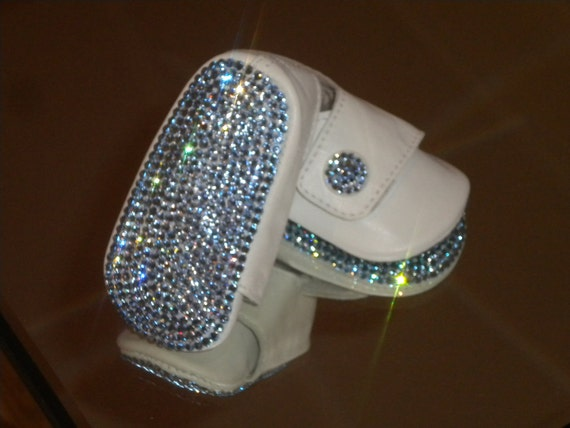 Baby Boys Bling Rhinestone Button Shoes