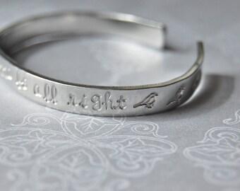 bob marley skinny bracelet cuff,  3 little birds lyrics