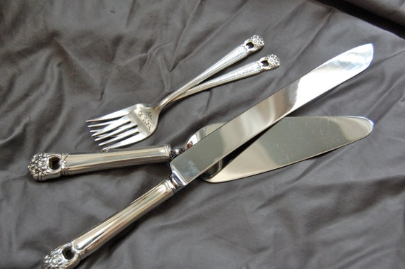 vintage wedding cake serving set mr amp mrs forks cake server and knife set vintage wedding 21611