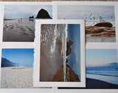 wish you were here, the oregon coast edition / blank photo greeting cards - set of 5