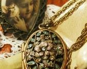 Reserved for Lisa Vintage Oval Brass Locket