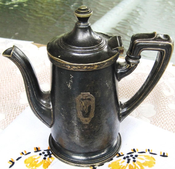 TREASURY ITEM Antique Reed and Barton Coffee Server Silver Soldered
