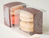 Handprinted Cardstock Banner Macaron Favor (M) - Set of 30
