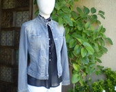 Reserved for Pam 1980s Benetton denim blue jacket size S