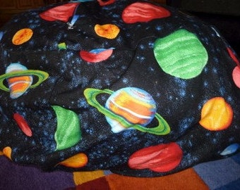 Planet Bean Bag Chair Cover, Space, Solar System, Planets, Black, Red, Blue, Green, Orange, Etsy Kids, Gifts Under 75