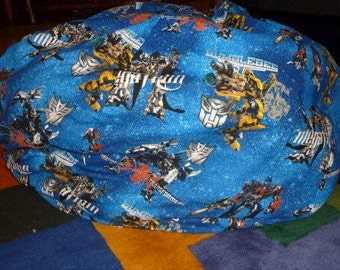Transformer Bean Bag Chair Cover, Blue, Red, Yellow, Bubble Bee, Optimus Prime, Rodimus Prime