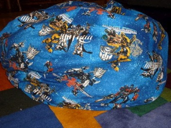 Transformer Bean Bag Chair Cover Blue Red By Copperbugcompany