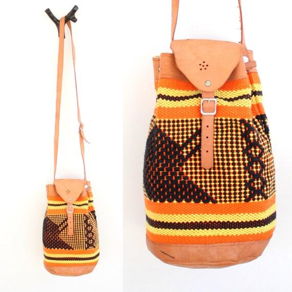 Vintage Ethnic Woven Bucket Bag