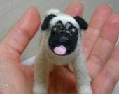 Reserved for Miss Bobbet Needle Felt Pug