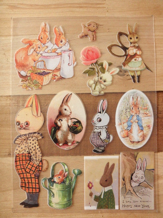 rabbit --- iron on heat transfer fabric sticker