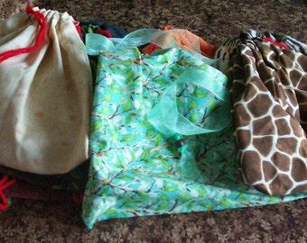 Large Cotton Drawstring Bags