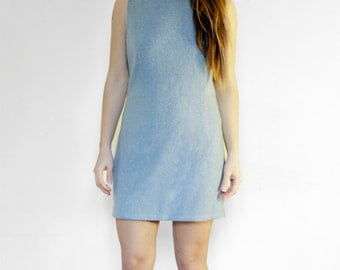 SALE - Mod Wool Ice Dress - 1960