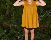 Vintage Mustard Tunic Dress