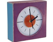 FREE SHIPPING - Wall clock, multicolor PURPLE clock, Wall hanging clock