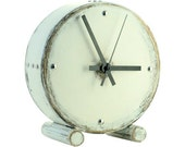 White wood clock Drum