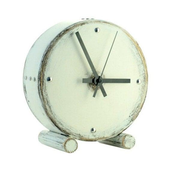 White wood clock Drum