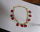 Ankle Bracelet Red Shell with Baby Pearls Anklet.