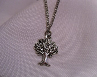 Tree of Life, Tibetan Silver Tree Charm Necklace